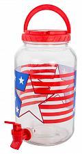 Buy :10899U - Patriotic Flag 1 Gallon Glass Beverage Dispenser w/Spout