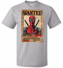 Buy Deadpool Wanted Poster Youth Unisex T-Shirt Pop Culture Graphic Tee (Youth M/Silver)