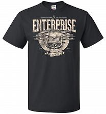 Buy Enterprise Unisex T-Shirt Pop Culture Graphic Tee (6XL/Black) Humor Funny Nerdy Geeky