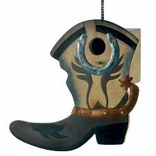 Buy 13906U - Western Boot Decorative MDF Wood Birdhouse