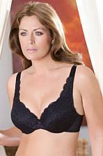 Buy Elila Stretch Lace Underwire Bra #2709 Black Size 40DD/E NEW!