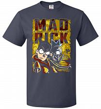 Buy Mad Rick Unisex T-Shirt Pop Culture Graphic Tee (2XL/J Navy) Humor Funny Nerdy Geeky