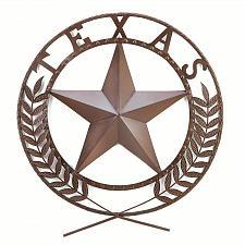 Buy 38595U - Texas Star Circular Chocolate Finish Metal Wall Plaque