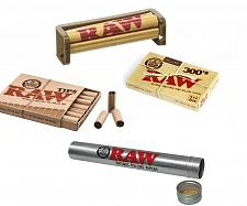 Buy RAW Rolling Paper Bundle - Organic 300s+79mm Roller+Pre Rolled Tips+Storage Tube
