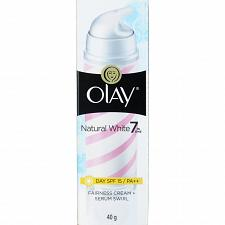 Buy Olay Natural White Fairness Day Cream Serum Swirl Skin Whitening 40 grams