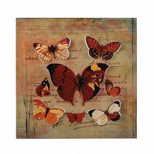 Buy *17435U - Rustic Butterfly Postcard Backdrop 3-D Iron Wall Art