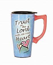 Buy :10731U - Trust In The Lord Ceramic 16oz Travel Mug