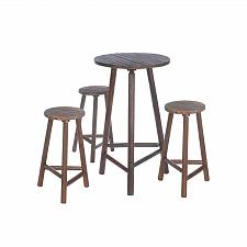 "Buy *17505U - Fir Wood 42"" Bar Table & Stools Set"