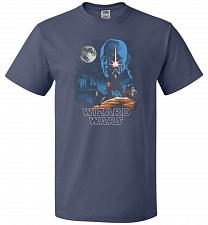 Buy Wizard Wars Unisex T-Shirt Pop Culture Graphic Tee (4XL/Denim) Humor Funny Nerdy Geek