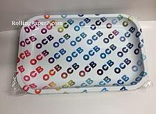"Buy New OCB® Cigarette Papers Brand Metal Rolling Tray 11"" x 7"" Rainbow LOGO Medium"