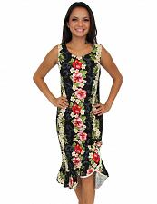 Buy Ladies Black Mid Length Tank Style Big Island Dress #910C-PP size: LARGE