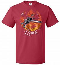 Buy Retro Rebels Unisex T-Shirt Pop Culture Graphic Tee (XL/True Red) Humor Funny Nerdy G
