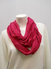Buy Womens SCARF COWL INFINITY Solid Magenta Pink All Occasion Size 70X13.5 Acrylic