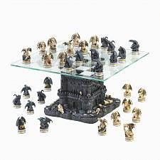 Buy 15192U - Medieval Theme Black Tower Dragon Figure Chess Set Board Game