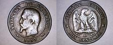 Buy 1853-D French 10 Centimes World Coin - France