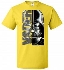 Buy Vader Youth Unisex T-Shirt Pop Culture Graphic Tee (Youth XL/Yellow) Humor Funny Nerd