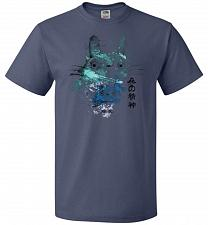 Buy Watercolor Totoro Unisex T-Shirt Pop Culture Graphic Tee (2XL/Denim) Humor Funny Nerd