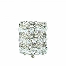 Buy *17297U - Eternity Small Glass & Crystaline Gem Votive Candle Holder