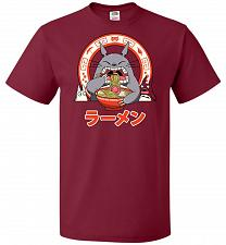 Buy The Neighbor's Ramen Unisex T-Shirt Pop Culture Graphic Tee (L/Cardinal) Humor Funny