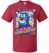 Buy Friend Like Me Adult Unisex T-Shirt Pop Culture Graphic Tee (2XL/True Red) Humor Funn