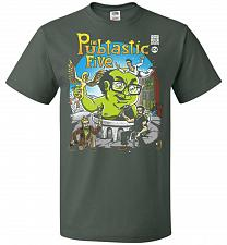 Buy Pubtastic Five Unisex T-Shirt Pop Culture Graphic Tee (4XL/Forest Green) Humor Funny