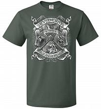 Buy Fantastic Crest Unisex T-Shirt Pop Culture Graphic Tee (2XL/Forest Green) Humor Funny