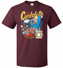 Buy Cornholios Unisex T-Shirt Pop Culture Graphic Tee (M/Maroon) Humor Funny Nerdy Geeky