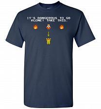 Buy It's Dangerous To Go Alone! Classic Zelda Unisex T-Shirt Pop Culture Graphic Tee (2XL