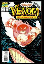 Buy VENOM #1 NM- The Madness Embossed Card-Stock Cover Ann Nocenti Kelley Jones 1993
