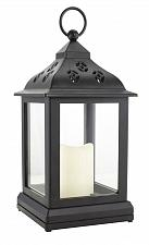 Buy :10703U - LED Flickering Light Black Lantern w/Timer