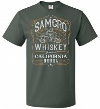 Buy Sons of Anarchy Samcro Whiskey Adult Unisex T-Shirt Pop Culture Graphic Tee (2XL/Fore