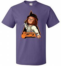 Buy Chuckywork Orange Unisex T-Shirt Pop Culture Graphic Tee (L/Purple) Humor Funny Nerdy