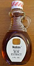 Buy New Vintage Watkins Rum Extract 2 Oz Glass Bottles NOS