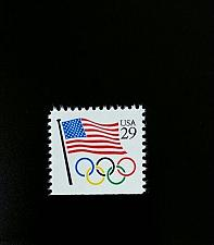 Buy 1991 29c Flag, Olympic Ring Scott 2528 Mint F/VF NH