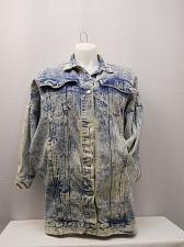 Buy Denim Jacket Womens SIZE L True VINTAGE SBII Three Quarter Sleeves Collar Neck