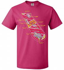 Buy Anatomy Of A Hover Board Unisex T-Shirt Pop Culture Graphic Tee (XL/Cyber Pink) Humor