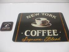 Buy Corkboard Placemat And Coaster 15 Inches X 13 Inches New York Coffee Supreme