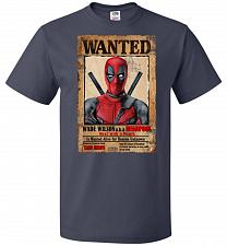 Buy Deadpool Wanted Poster Youth Unisex T-Shirt Pop Culture Graphic Tee (Youth S/J Navy)