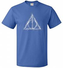 Buy Deathly Hollows Unisex T-Shirt Pop Culture Graphic Tee (S/Royal) Humor Funny Nerdy Ge