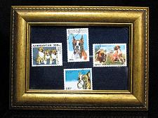 Buy Boxer Dog Stamps Framed Collection 1990 Romana 1995 Benin 1996 1998 Cambodge