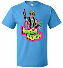 Buy Boba Fresh Unisex T-Shirt Pop Culture Graphic Tee (S/Pacific Blue) Humor Funny Nerdy