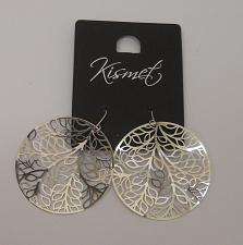 Buy Women Leaf Earrings Metal Silver Tones Fashion Drop Dangle Hook Fasteners KISMET