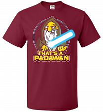 Buy That's A Padawan Unisex T-Shirt Pop Culture Graphic Tee (3XL/Cardinal) Humor Funny Ne