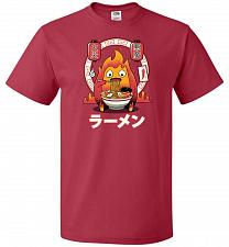 Buy Fire Demon Ramen Unisex T-Shirts Pop Culture Graphic Tee (M/True Red) Humor Funny Ner