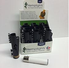 Buy BLACK HEMPLIGHT™ OG HEMP WICK DISPENSER LIGHTER CASE with FREE CLIPPER™ LIGHTER