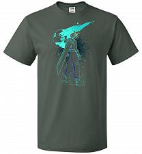 Buy Shadow Of The Meteor Unisex T-Shirt Pop Culture Graphic Tee (XL/Forest Green) Humor F