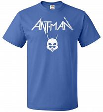 Buy Antman Anthrax Parody Unisex T-Shirt Pop Culture Graphic Tee (S/Royal) Humor Funny Ne