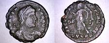Buy 364-367AD Roman Imperial Valens AE18 - Victory Adv Left - Lyons Mint LVGPD