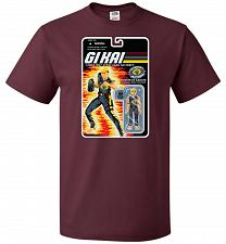 Buy GI KAI Unisex T-Shirt Pop Culture Graphic Tee (XL/Maroon) Humor Funny Nerdy Geeky Shi
