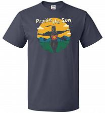 Buy Praise The Sun Unisex T-Shirt Pop Culture Graphic Tee (2XL/J Navy) Humor Funny Nerdy
